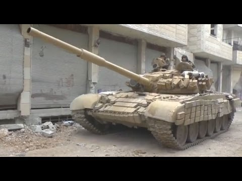 18+ Men vs Tanks II - T-72 Tanks with GoPro in Darayya Syria [ ++♪ 59 min.]