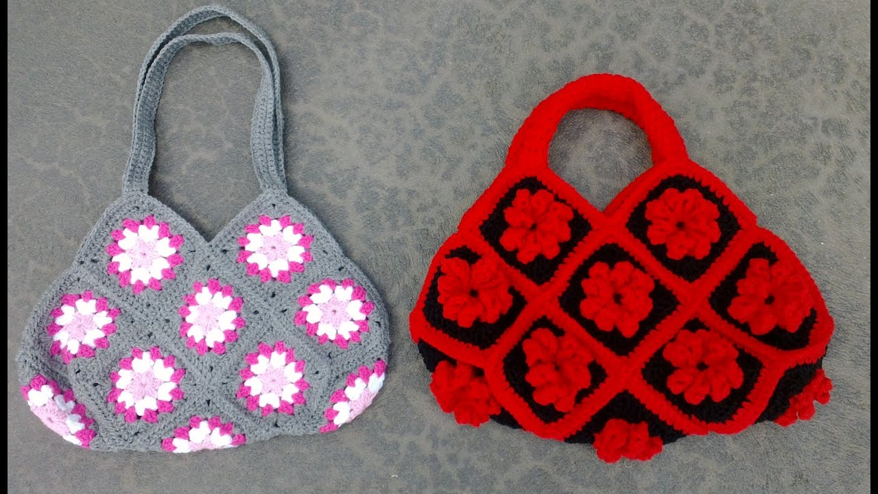 Crochet Bag Youtube : Granny Square Bag Crochet Tutorial Part 1 of 3 - Joining the Granny ...
