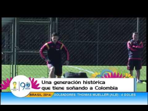 Julio 3 de 2014. Selección Colombia ultima detalles antes de su partido con Brasil
