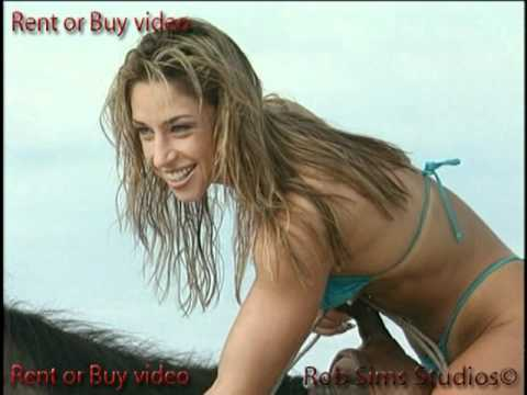 Fitness Model Ocean Bloom Thong Bikini Photoshoot