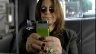 Ozzy Osbourne In An AT&T Samsung Cell Phone Commercial