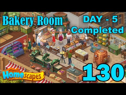 Homescapes New Bakery Room Expansion - Day 5 Completed - Part 130