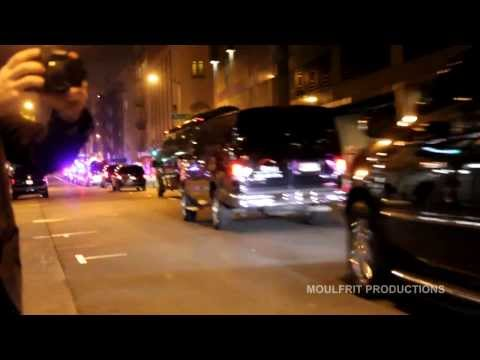 French President François Hollande's Motorcade, San Francisco
