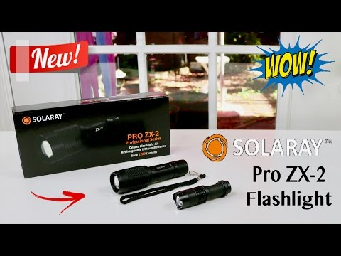 😍 SOLARAY Pro ZX-2 Professional Series Flashlight Kit - Review ✅