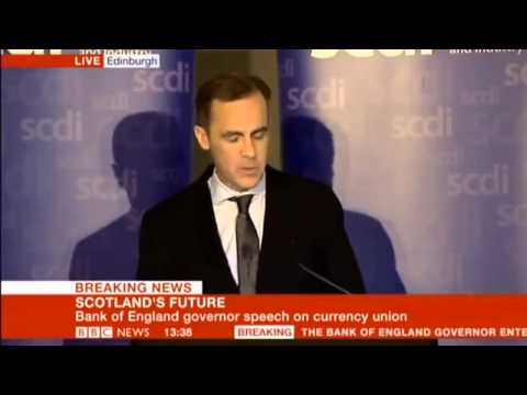 Bank of England/Scottish Independence - 'The Economics of currency unions'