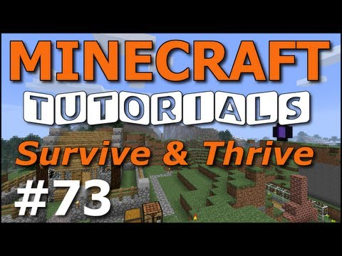 Minecraft Tutorials - E73 Apple Orchard Tree Farm (Survive and Thrive Season 4)