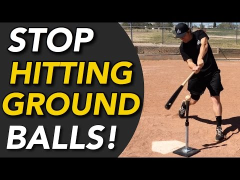 How To STOP Hitting Ground Balls - Hit LINE DRIVES Instead!