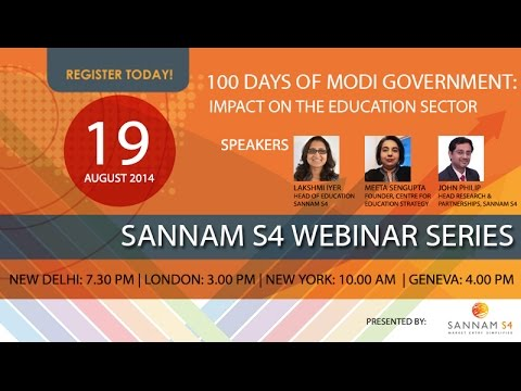 100 Days of Modi Government: Impact on the Education Sector Webinar