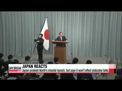 Japan protests North's missile launch, but says abductee talks will go on