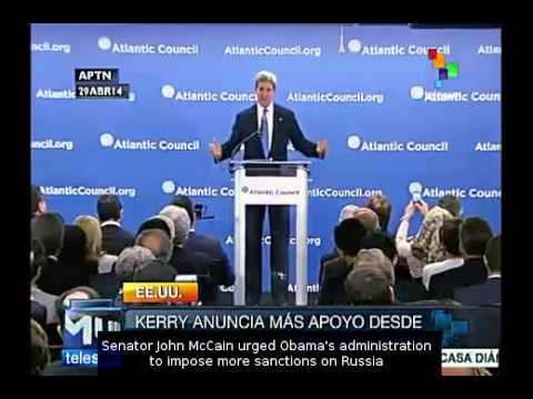 Ukraine: Kerry announces more support from NATO towards coup