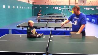 Baby playing Table tennis..