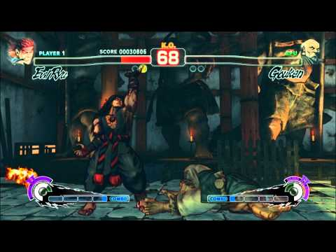 Boss Evil Ryu versus Shin Gouken Gameplay - Super Street Fighter IV Arcade Edition 2012