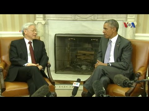 TBT Nguyễn Phú Trọng và TT Obama ra tuyên bố chung về quan hệ song phương