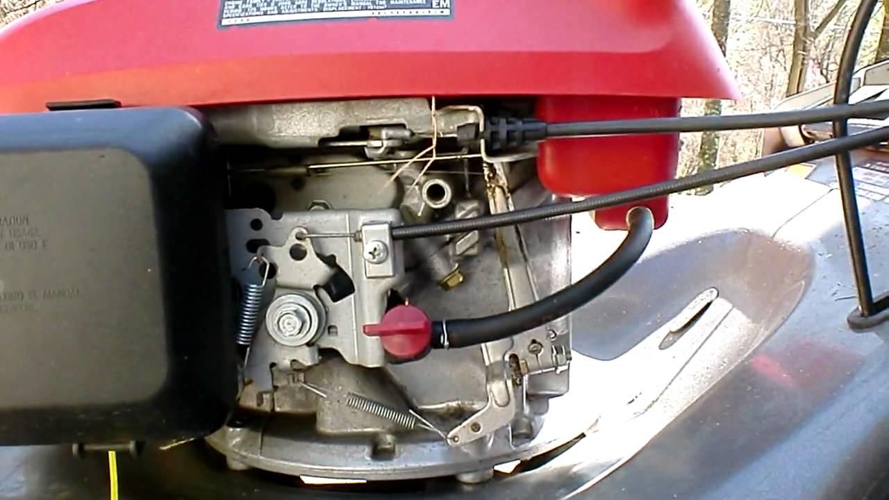 Honda mower problem - YouTube