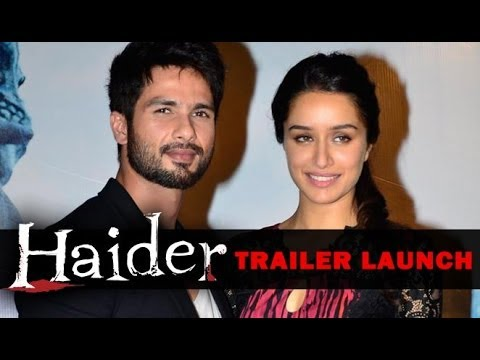 Shahid Kapoor And Shraddha Kapoor Attend The Trailer Launch Of 'Haider'
