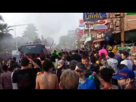 Unsung Hero Thailand Pattaya Songkran Festival 2014 sexy girls,a lot of water-not fail