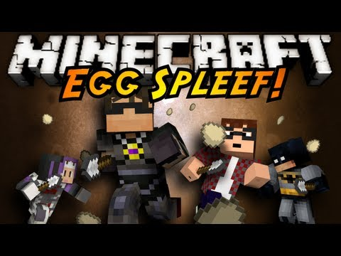 Minecraft Mini-Game : SPLEGG!, THROW EGGS AT THE GROUND TO SHATTER THE ARENA AND DROP YOUR OPPONENTS.