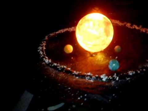 maqueta sistema solar con movimiento