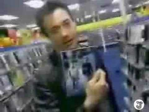 Robert Downey Jr goes to Blockbuster