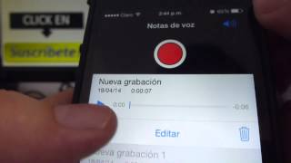 Cómo Enviar Una Nota De Voz En Iphone 5S 5C 5 4 IOS 7