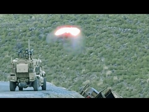TOW MISSILE DESTROYS A TALIBAN HILLSIDE CAMP - 'NO SLACK'