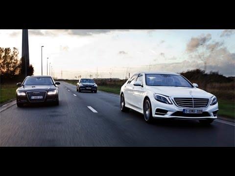 Rijtest: Mercedes S-Klasse vs Audi A8 vs BMW 7 Reeks - GroenLicht.be