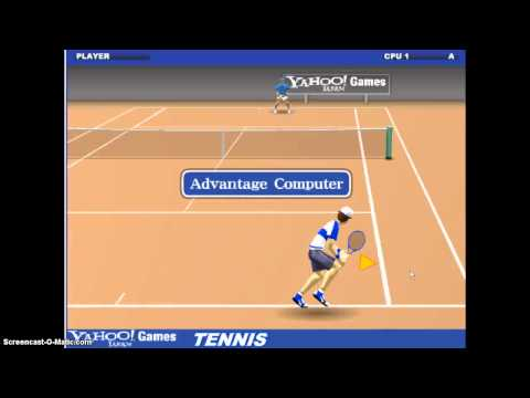 Let's play YAHOO! Games Part 1: Tennis