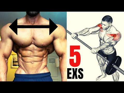 5 BEST SHOULDER EXERCISES AT GYM BARBELL ONLY / Musculation épaules