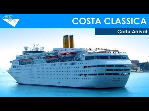 Costa Classica arriving into Corfu