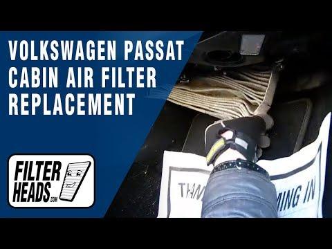 Cabin air filter replacement- Volkswagen Passat - YouTube