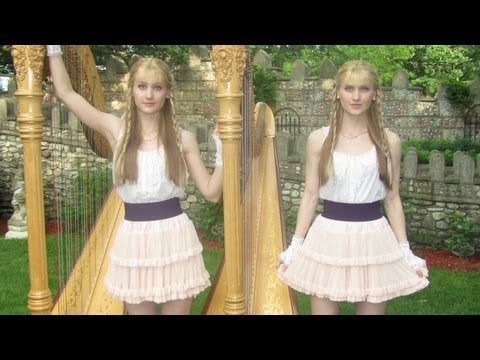 SCARBOROUGH FAIR (Harp Twins) Camille and Kennerly, Harp Duet