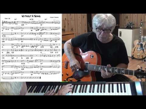 Without A Song - Jazz guitar & piano cover ( Vincent Youmans )