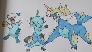 How To Draw Pokemon: No.501 Oshawott, No.502 Dewott, No