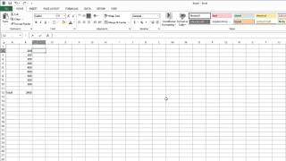 How To Calculate A Running Total Using Microsoft Excel