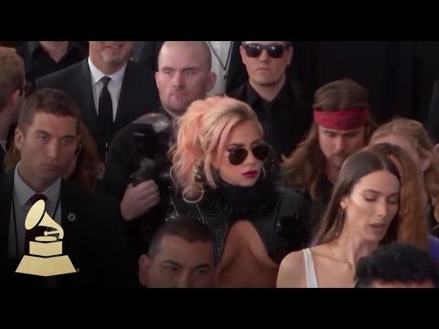 Lady Gaga   Red Carpet   59th GRAMMYs