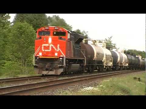 CN freight RACES VIA train!!