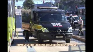 Homem morre atropelado por �nibus do MOVE