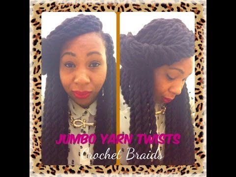 Crochet Yarn Braids : Jumbo Yarn Twists ~ Crochet Braids - YouTube