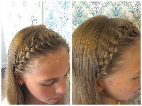 how to french braid headband tutorial