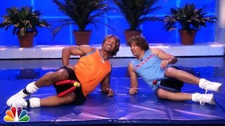 Dwayne Johnson vs Jimmy Fallon: Workout Videos, Part 1