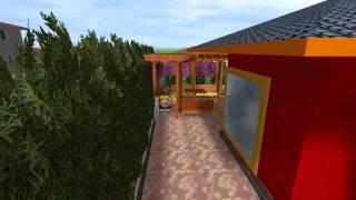 3D prezentácia záhrady - ranný prelet