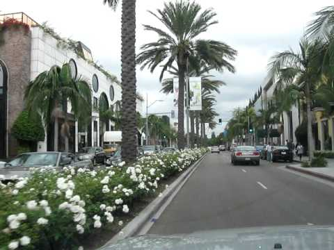 Driving Through Rodeo Drive Beverly Hills Los Angeles