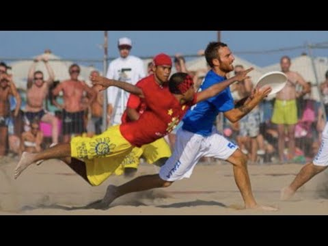 Beach Ultimate World Frisbee Highlights 2011