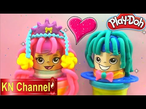 Đồ chơi trẻ em Bé Na Play-doh đất nặn Đám cưới làm tóc cô dâu chú rễ wedding make hair Kids toys