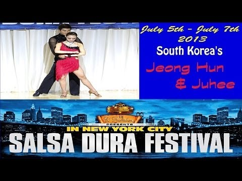 Jeong Hun Lee & Juhee Jung (South Korea) | NYC Salsa Dura Festival 2013 | Salsa Performance