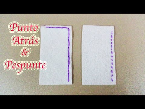 COSTURA A MANO | PUNTO ATRÁS & PESPUNTE | COSTURA BASICA - YuureYCrafts