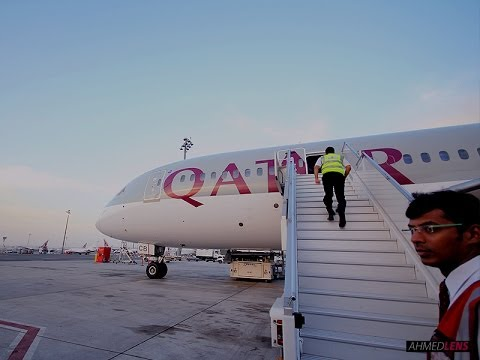 QATAR Airways Boeing  787-8 Dreamliner Riyadh to Doha (RUH/DOH)
