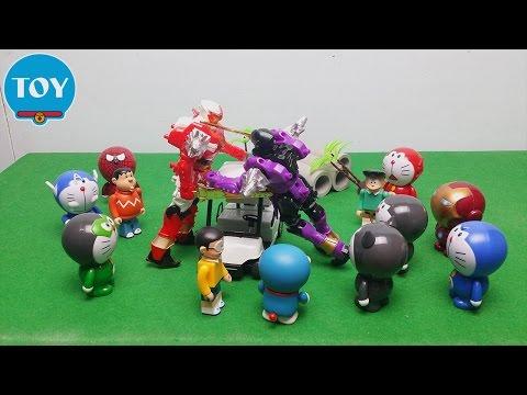 Doremon siêu anh hùng Robot đánh nhau của chaien và xeko quậy phá - đồ chơi doremon chế hài