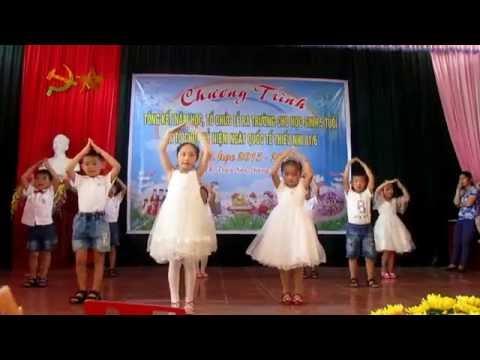 Múa dân vũ: Nhà mình rất vui- các bé 5 tuổi A2- trường MN thị trấn Neo