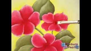 Como Pintar En Tela Individuales Country Con Flores